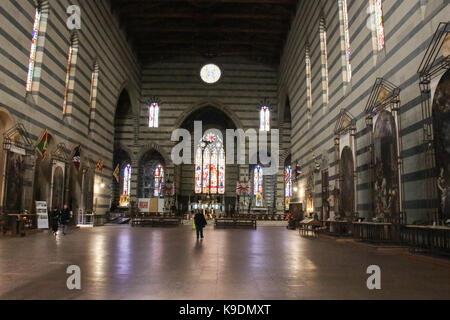 Italy, Siena - December 26 2016: the interior view of Basilica San Francesco in Siena on December 26 2016 in Siena, - Stock Photo