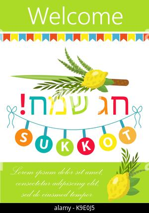 Sukkot festival greeting card design vector template traditional sukkot template for your design greeting card and m4hsunfo