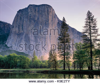 El Capitanin Springtime,Yosemite National Park, California - Stock Photo