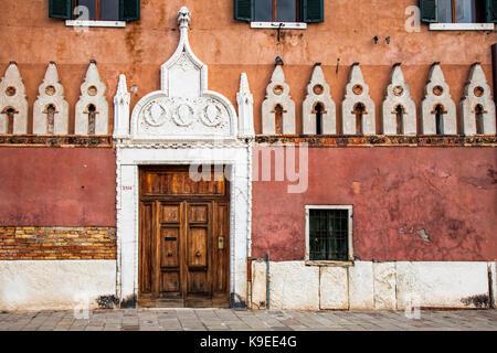 Facade in Venice, Italy - Stock Photo