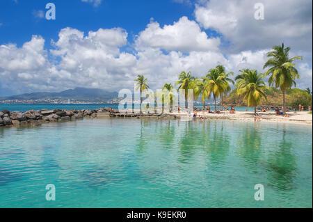 Anse Mitan - Fort-de-France - Martinique - Tropical island of Caribbean sea - Stock Photo