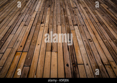 Aft deck on the MV Marco Polo - Stock Photo