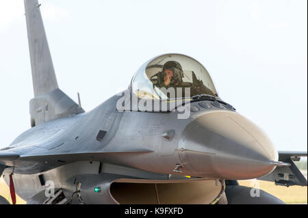 A Reserve Citizen Airmen F-16C Viper pilot from the 482 Fighter Wing, Homestead Air Reserve Base, Florida - Stock Photo