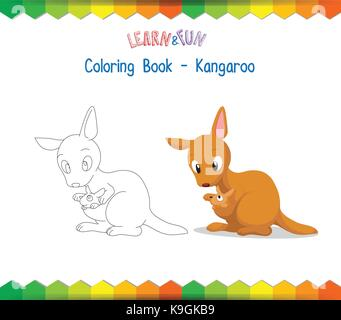 Kangaroo Coloring Book Educational Game