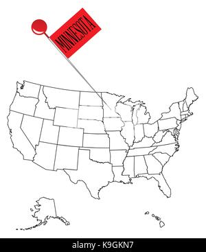 Worksheet. An outline map of USA with a knob pin in the state of South