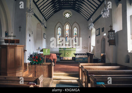Inside the St Margaret of Antioch church in Shottisham, Suffolk. - Stock Photo
