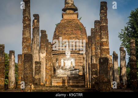 Wat Sa Si, in Sukhothai Historical Park,  Sukhothai, Thailand - Stock Photo