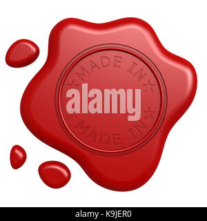 Made in France seal - Stock Photo