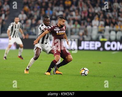September 23, 2017 in Turin - Allianz Stadium Soccer match Juventus F.C. vs F.C. TORINO In picture:  Photo: Cronos/Claudio - Stock Photo