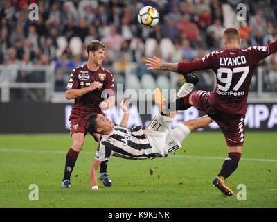 September 23, 2017 in Turin - Allianz Stadium Soccer match Juventus F.C. vs F.C. TORINO In picture: Paulo Dybala - Stock Photo