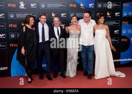 San Sebastian, Spain. 23rd Sep, 2017. Manuel Martin Cuenca, Antinio de la Torre, Maria Leon, Adelfa Calvo, Javier - Stock Photo
