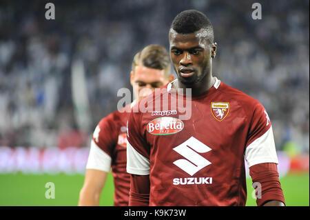 M'Baye Niang (Torino FC) during the Serie A football match between Juventus FC and  Torino FC at Allianz Stadium - Stock Photo