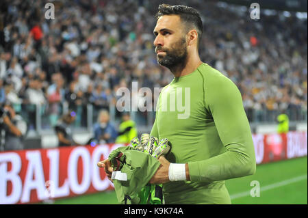 Salvatore Sirigu (Torino FC) during the Serie A football match between Juventus FC and  Torino FC at Allianz Stadium - Stock Photo