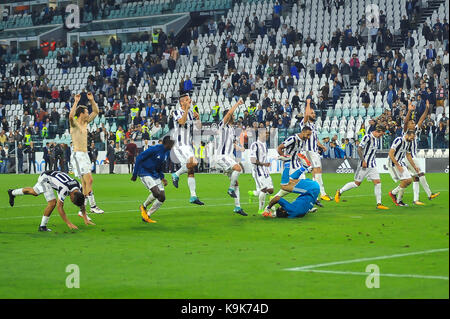 during the Serie A football match between Juventus FC and  Torino FC at Allianz Stadium on 23 September, 2017 in - Stock Photo