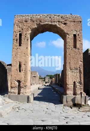 The archaeological remains of Pompeii demonstrates nature's ability to destroy and preserve. - Stock Photo