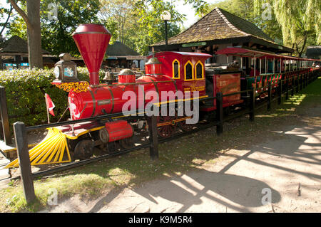 Miniature railway at Centreville Amusement Park, Toronto Islands, Canada - Stock Photo