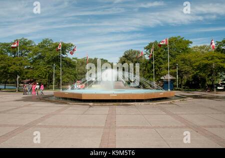 Water fountain, Centre Island Park, Toronto Islands, Canada - Stock Photo