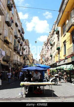 The energetic street life of Naples. - Stock Photo