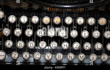 TYPEWRITER keys with letters 2011 - Stock Photo