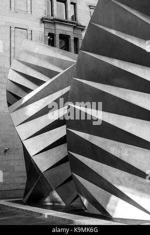 Thomas Heatherwick Angel Wings Sculpture in Bishops Court Paternoster Square City of London, United Kingdom - Stock Photo