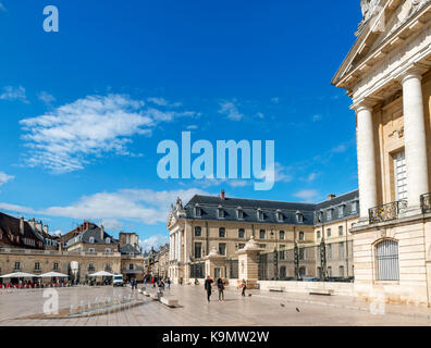 Place de la Liberation and Palace of the Dukes of Burgunady, housing the Musee des Beaux Arts, Dijon, Cote-d'Or, - Stock Photo