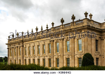 Chatsworth House, exterior building, stately home. - Stock Photo