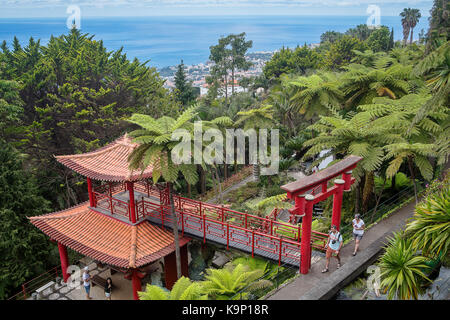 Monte Palace Tropical Garden (Japanese garden), Madeira, Portugal - Stock Photo