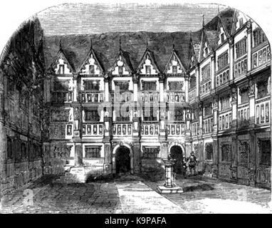 P480 House of Sir Thomas Gresham on Bishopsgate Syreet - Stock Photo