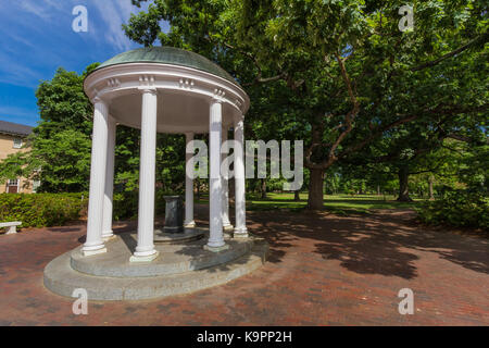 Old Well at the University of North Carolina at Chapel Hill in Chapel Hill, North Carolina.  Built in 1897. - Stock Photo