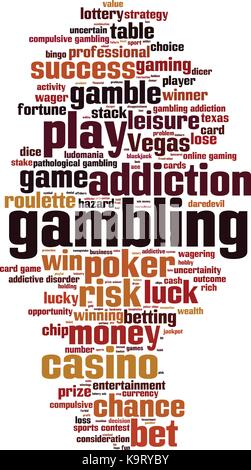 Gambling word cloud concept. Vector illustration - Stock Photo