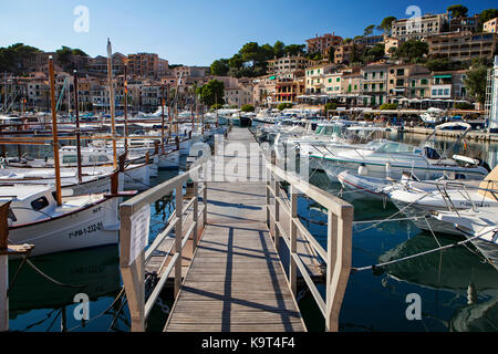 Port de Soler, Majorca, Spain in September 2017 - Stock Photo