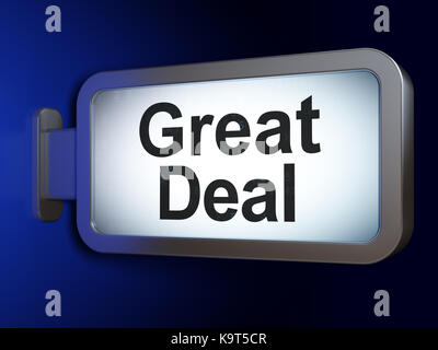 Business concept: Great Deal on billboard background - Stock Photo