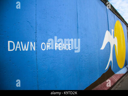 The East Side Gallery's murales are the street-art in Berlin, painted on their own famous wall