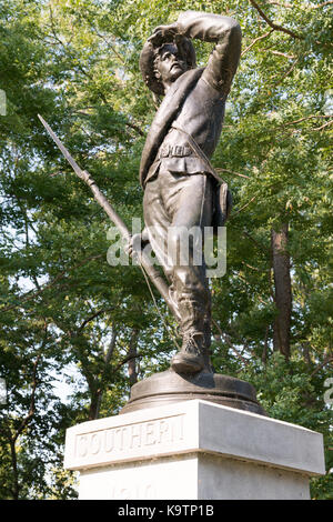 Civil War Statue looking over The Cemetery at Johnsons island. 9/10/2017 - Stock Photo