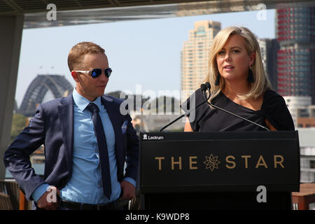 Sydney, Australia. 22 September 2017. Pictured: Kerrin McEvoy and Samantha Armytage. Channel 7 Sunrise Presenter - Stock Photo