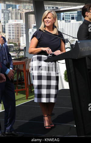 Sydney, Australia. 22 September 2017. Pictured: Samanthan Armytage. Channel 7 Sunrise Presenter Samantha Armytage - Stock Photo