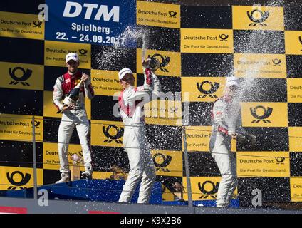 Motorsports: DTM 08 Spielberg 2017,  Jamie Green, Mattias Ekström, Nico Müller | Verwendung weltweit - Stock Photo