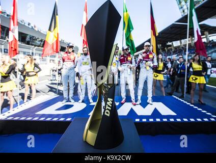Motorsports: DTM 08 Spielberg 2017, champion trophy | Verwendung weltweit - Stock Photo