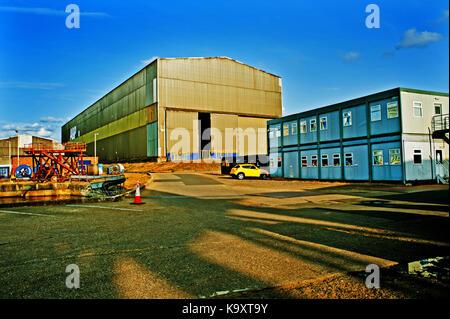 A and P Yard, Hebburn, Tyneside - Stock Photo