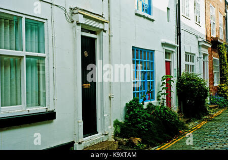 Pretty Cottages, High Church Wynd, Yarm on Tees - Stock Photo