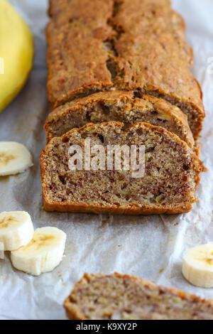 Homemade Banana Bread - Stock Photo