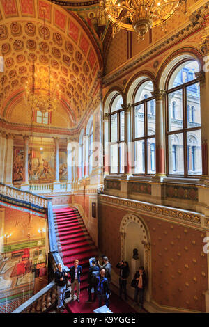 The Grand Staircase of he Foreign and Commonwealth Office,  designed by George Gilbert Scott, historic building - Stock Photo