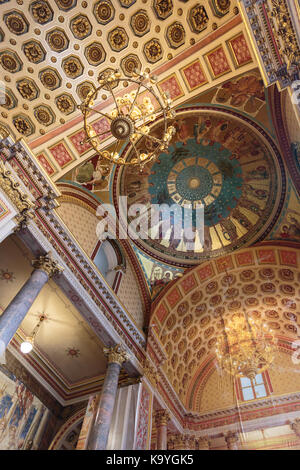 Ceilng above the Grand Staircase of he Foreign and Commonwealth Office,  designed by George Gilbert Scott, historic - Stock Photo