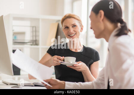 Productive Negotiations at Modern Boardroom - Stock Photo