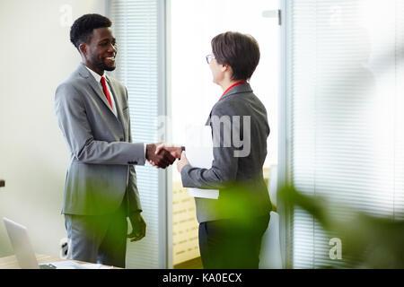 Finishing up Successful Negotiations - Stock Photo