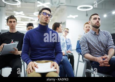 Students at seminar - Stock Photo