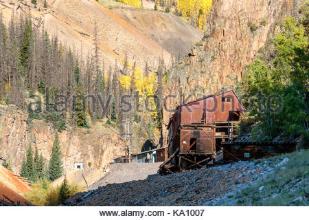 Creede Colorado Mining District - Stock Photo