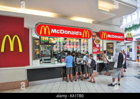 McDonald's Restaurant in food court, The Strand Shopping Centre, Whangarei, Northland Region, North Island, New - Stock Photo