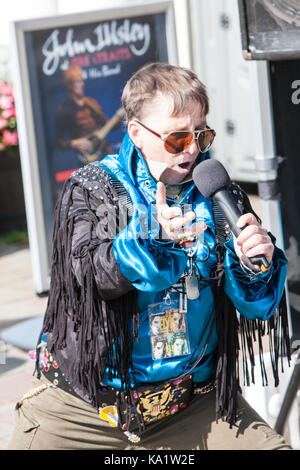 At,Elvis,Festival,Elvis Festival,Porthcawl,Bridgend,county,South,Wales,UK,U.K.,Europe, - Stock Photo