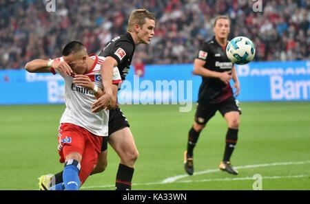 Leverkusen, Germany. 24th Sep, 2017. Leverkusen, Germany September 24, 2017, Bundesliga matchday 6, Bayer 04 Leverkusen - Stock Photo